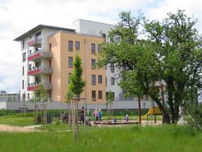 Dětské hřiště u bytového domu Růže