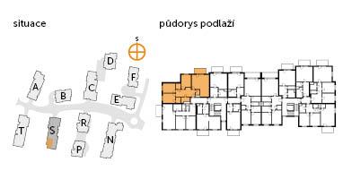 Byt 4+kk, 2. podlaží, balkón