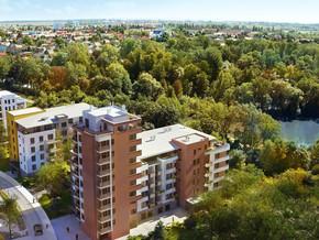 Nádherný pohled přes Lilii a Mateřídoušku na Čakovice a zámecký park