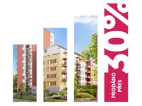 Prodáno přes 30 % bytů