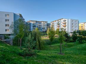 Pohled na výstavbu Čakovického parku