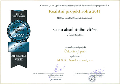 Real estate project of the year 2011 - Absolute winner award