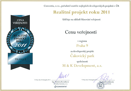 Real estate project of the year 2011 - Public choice award