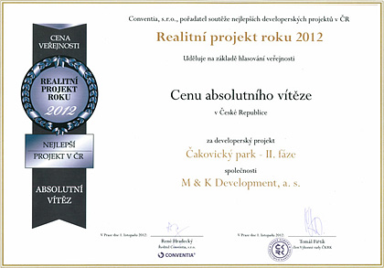 Real estate project of the year 2012 - Absolute winner award