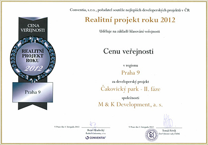 Real estate project of the year 2012 - Public choice award